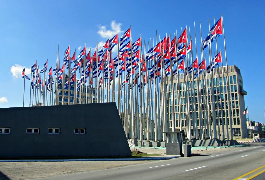 Cuba flags in Havana