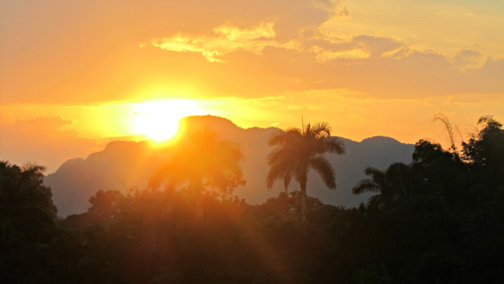Sunset in Vinales 1