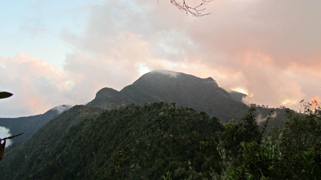 Sunset at pico turquino
