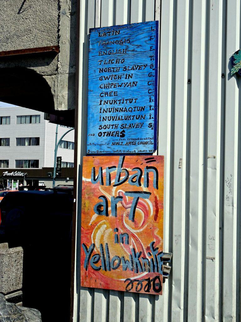 urban art in yellowknife